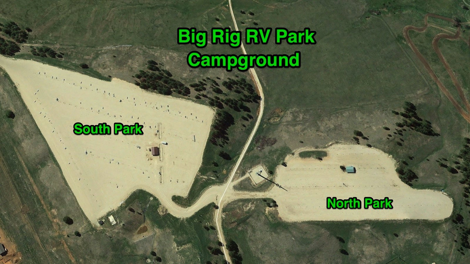 Sturgis RV Parks - Sturgis Campgrounds - Big Rig RV Park Park Map Overview
